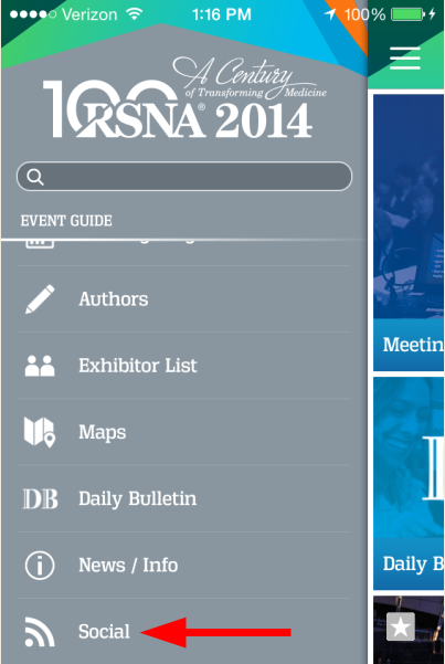 RSNA_App_Menu_Social