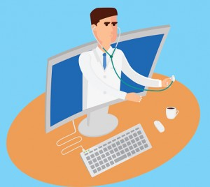Telemedicine conceptual illustration.
