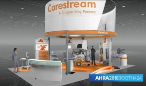 Image of Carestream booth at AHRA